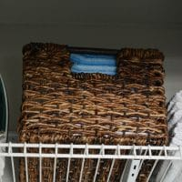 "Wicker Small Milk Crate Dark Brown 8""x10"" - Threshold"