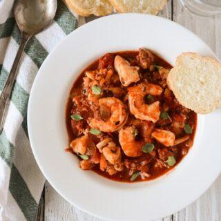 Easy Seafood and Chorizo Stew