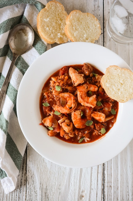 Easy Seafood and Chorizo Stew