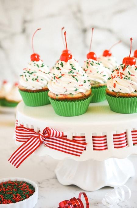 Christmas Confetti Cupcakes