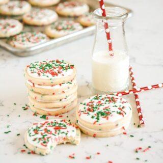 Christmas Confetti Sugar Cookies