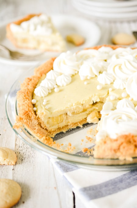 Banana Cream Pie with Vanilla Wafer Crust