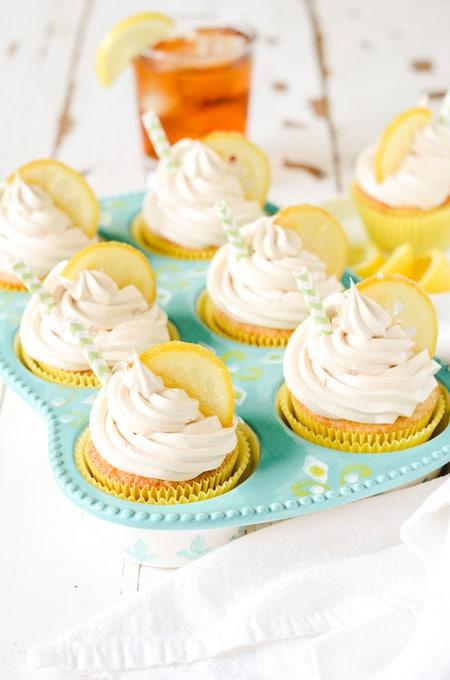 Sweet Tea Lemon Cupcakes