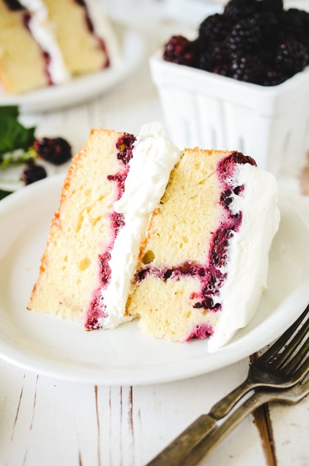 Blackberry Lavender Pound Cake