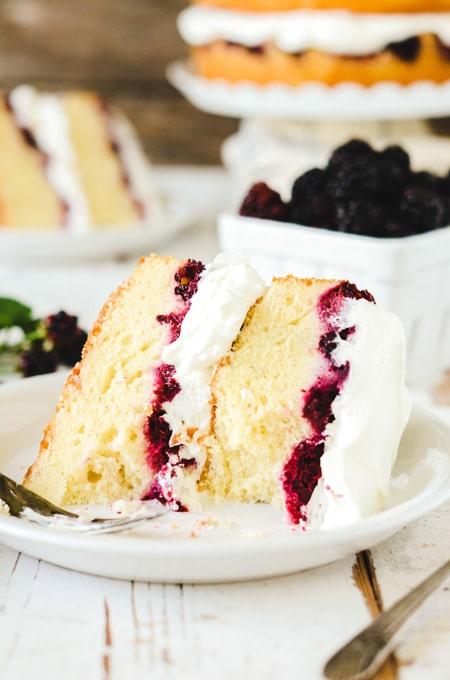 Blackberry Lavender Pound Cake