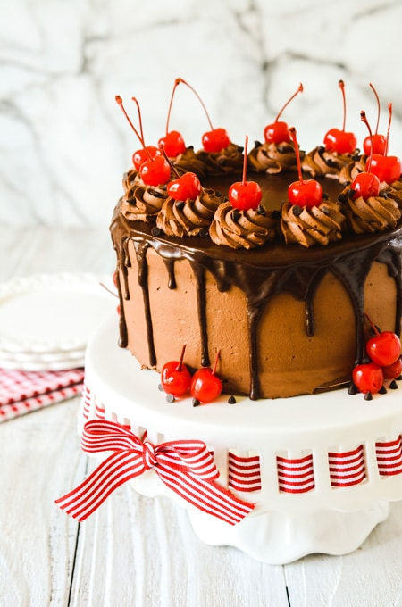 Cherry Chocolate Chip Cake