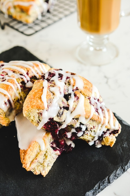 Mixed Berry Scones with Sugar Drizzle