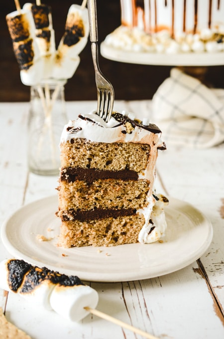 S'mores Layer Cake