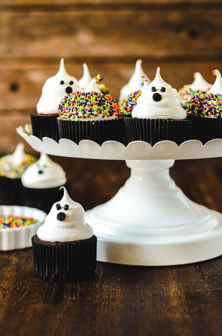 Devil's Food Ghost Cupcakes