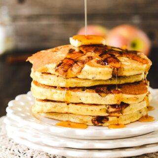 Multigrain Cinnamon Apple Pancakes
