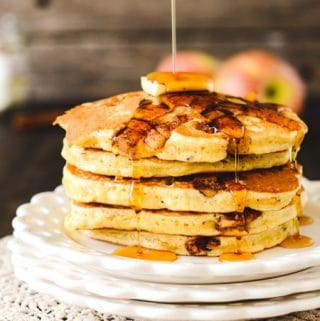Multigrain Cinnamon Apple Pancakes