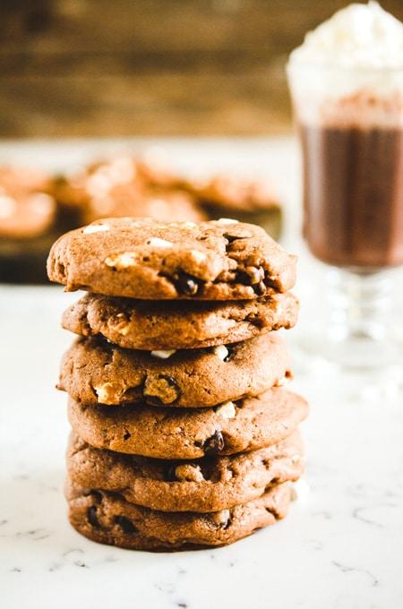 Chocolaty Hot Cocoa Cookies