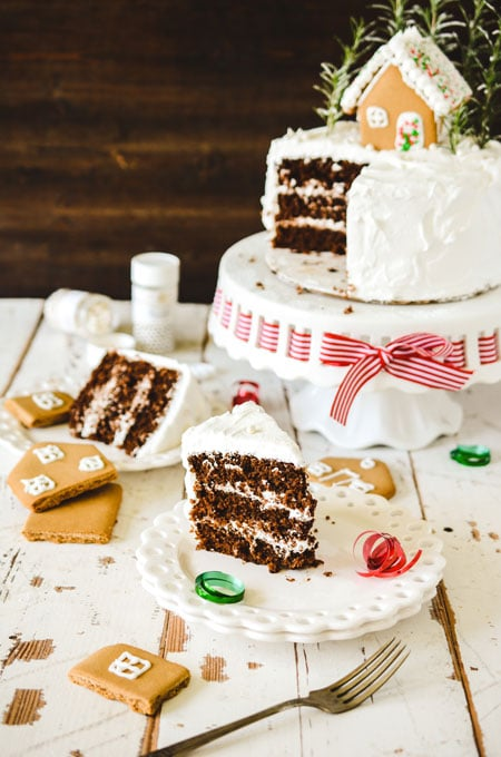 Gingerbread House Layer Cake