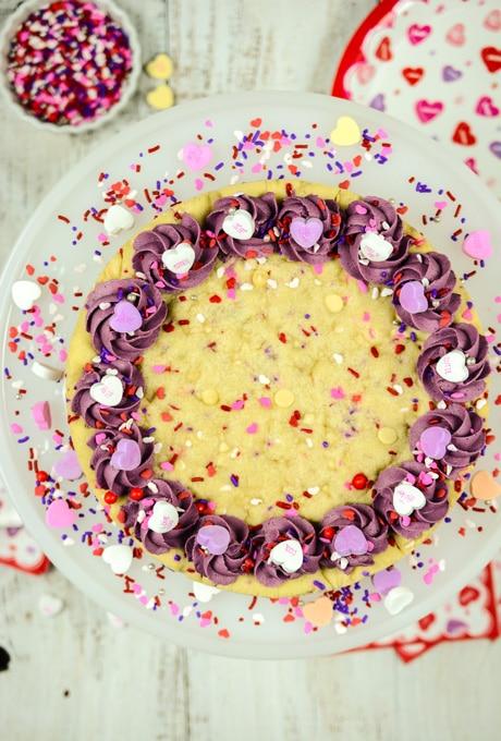 Valentine Confetti Cookie Cake