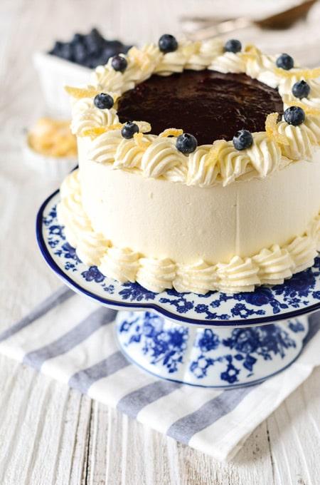 Lemon Blueberry Layer Cake