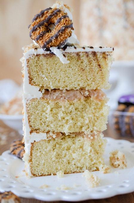 Toasted Coconut Caramel Layer Cake