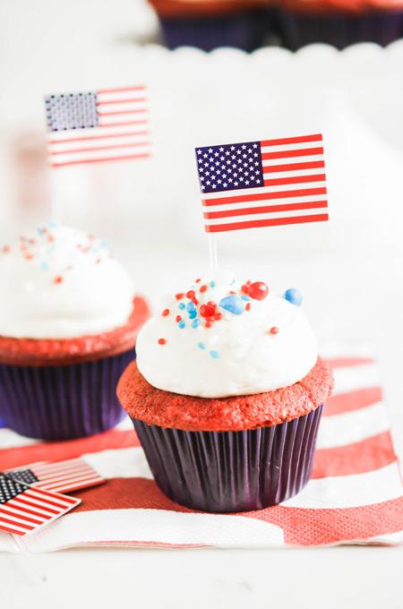 July 4th Red Velvet Cupcakes