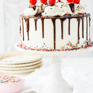 Brownie A La Mode Layer Cake
